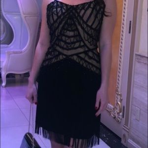 Jovani Cocktail Fringe Dress